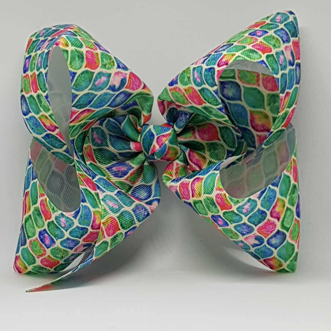8 Inch Boutique Bow - Wavy Mesh