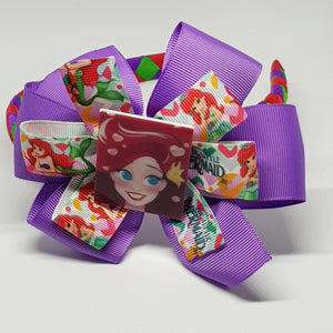 1/2 Woven Headband with Double Bow - Ariel