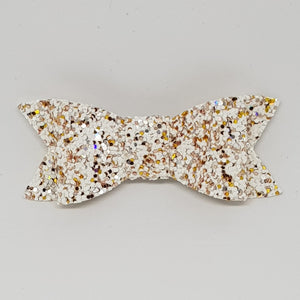 2.75 Inch Ivy Chunky Glitter Bow - Sprinkle of Gold