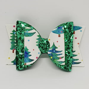 3.25 Inch Olivia Double Bow - Sparkling Trees