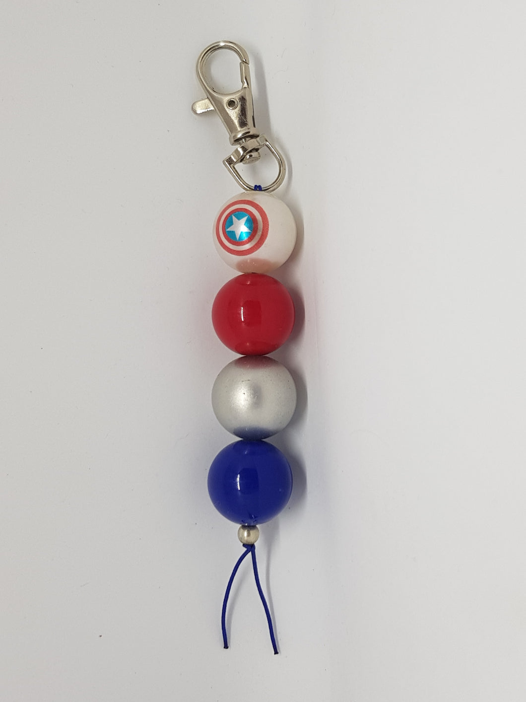 Bubblegum Bag Tag / Zippy Pull - Captain America Shield