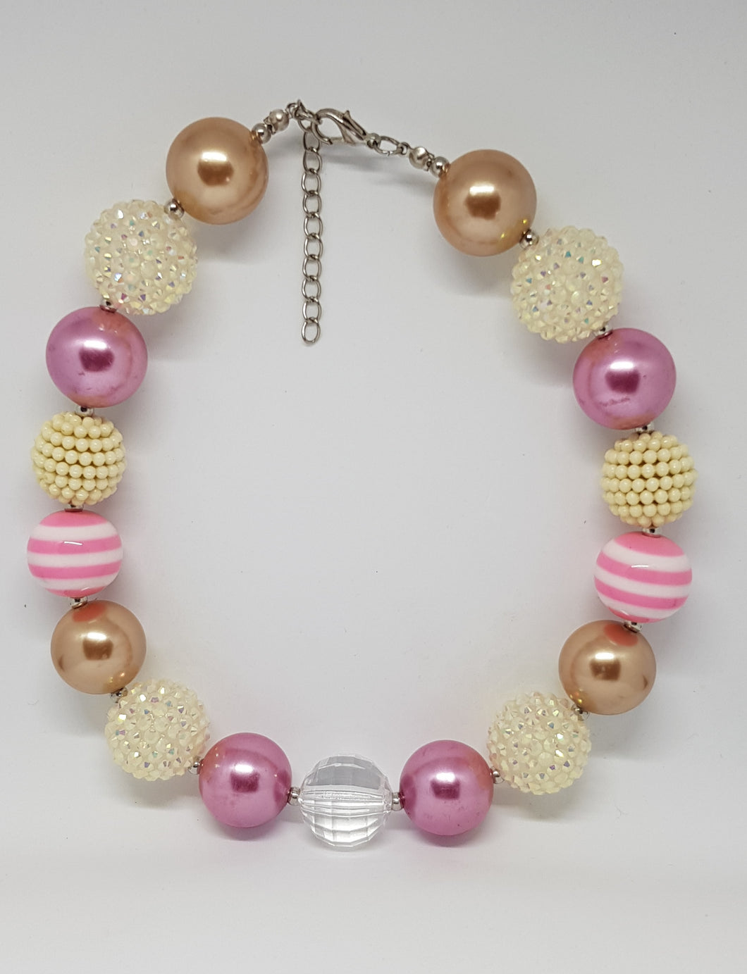 Bubblegum Bling Necklace - Pink & Gold