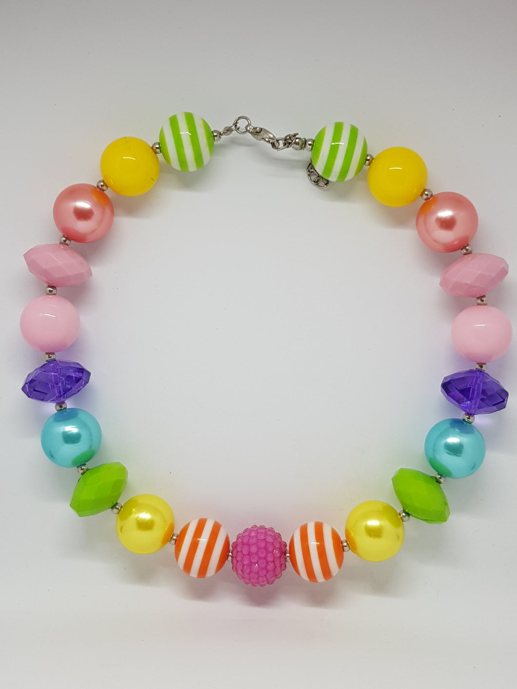 Bubblegum Bling Necklace -  Rainbow
