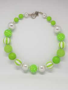 Bubblegum Bling Necklace - Apple Green
