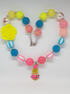 Bubblegum Bling Necklace - Shopkins Lippy Lips