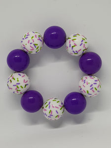 Bubblegum Bling Bracelet - Purple Sprinkles