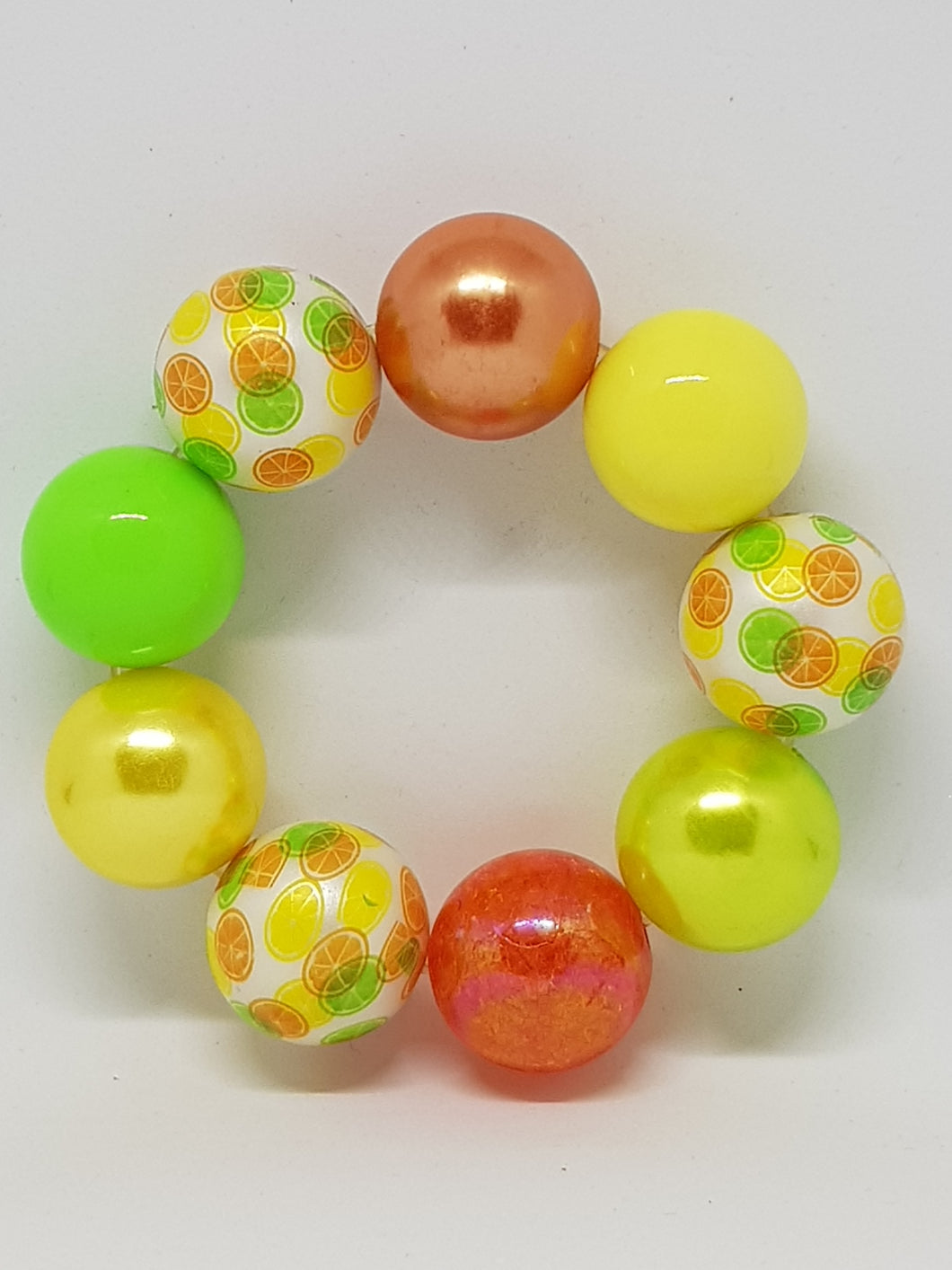 Bubblegum Bling Bracelet - Orange  Lemon & Lime