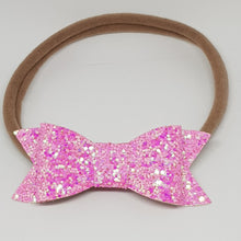 2.75 Inch Ivy Chunky Glitter Bow - Bright Pink