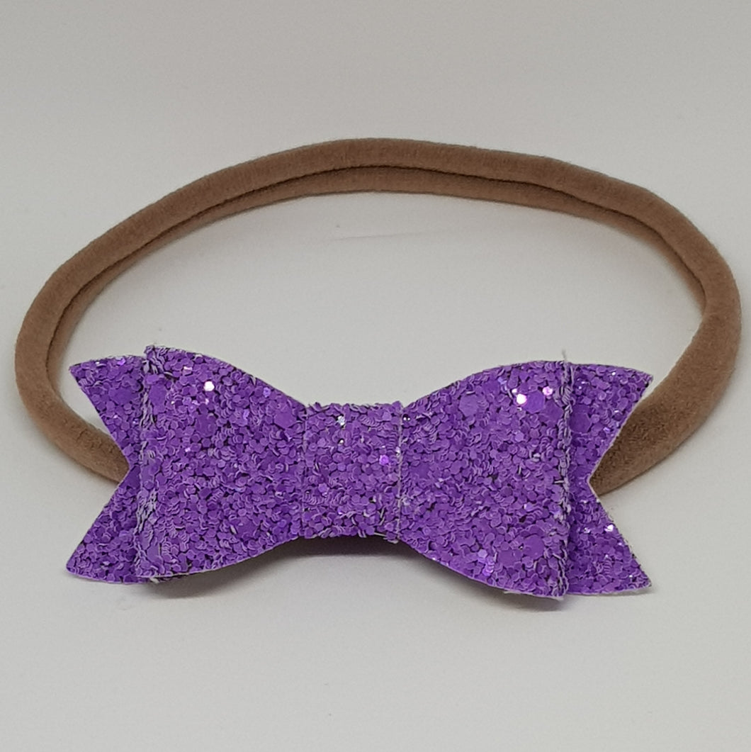 2.75 Inch Ivy Chunky Glitter Bow - Orchid