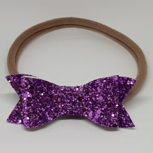 2.75 Inch Ivy Chunky Glitter Bow - Violet