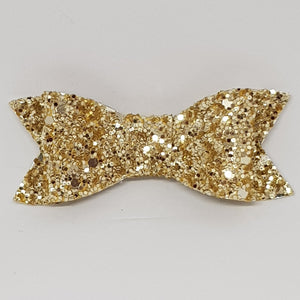 2.75 Inch Ivy Chunky Glitter Bow - Gold