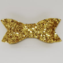 2.75 Inch Ivy Chunky Glitter Bow - Yellow Gold