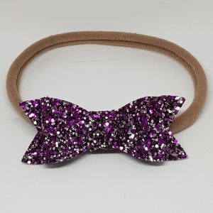 2.75 Inch Ivy Chunky Glitter Bow - Berry Bliss