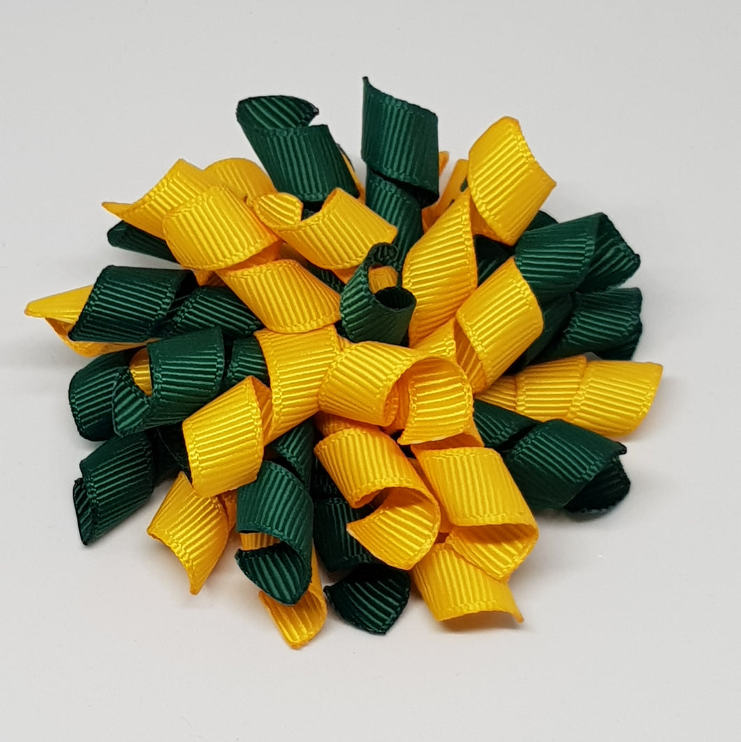 3 Inch Korker -  Hunter Green & Yellow Gold