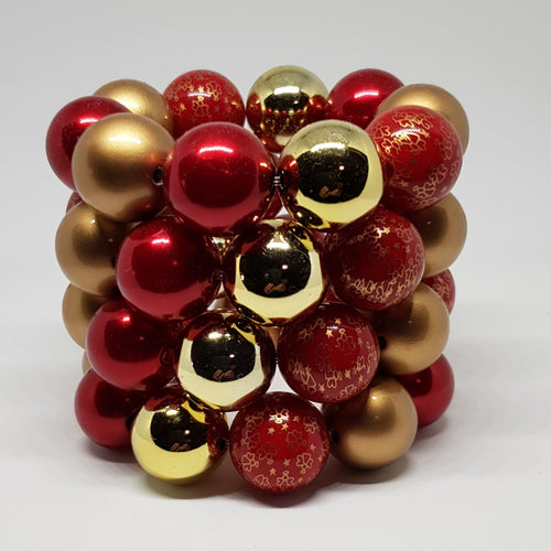 Bubblegum Bling Bracelet - Christmas Regal Red & Gold