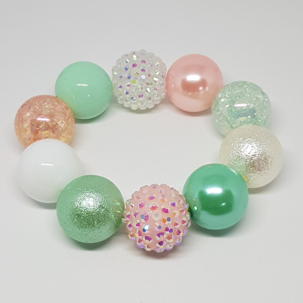 Bubblegum Bling Bracelet - Pastel Mermaid Princess