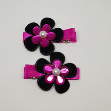 4.5 cm Non Slip Clips - Layered Flowers with Faux Pearl Centre