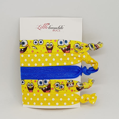 Yoga Hair Tie Set - Sponge Bob Square Pants