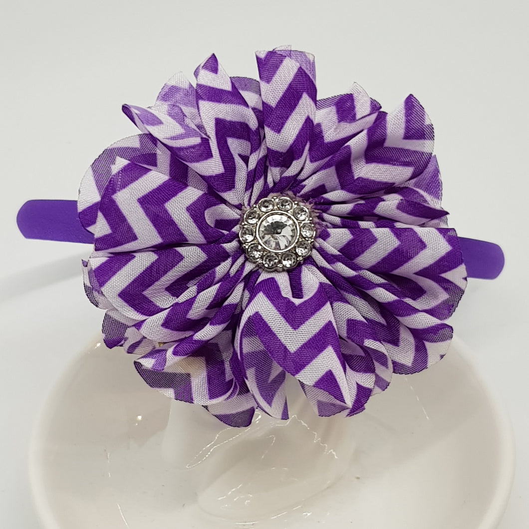 Headband - Chevron Flowers