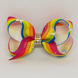 2.5 Inch Boutique Bow - Happy Easter