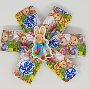 3.5 Inch Pinwheel Bow - Peter Rabbit