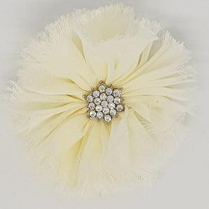 Shabby Chic Chiffon Flowers with Starburst Centre