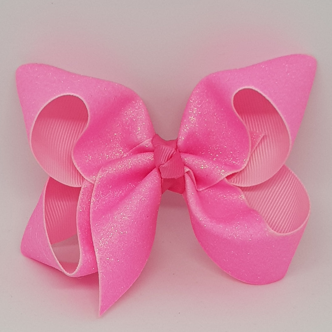 4 Inch Boutique Bow - Sublimated Glitter