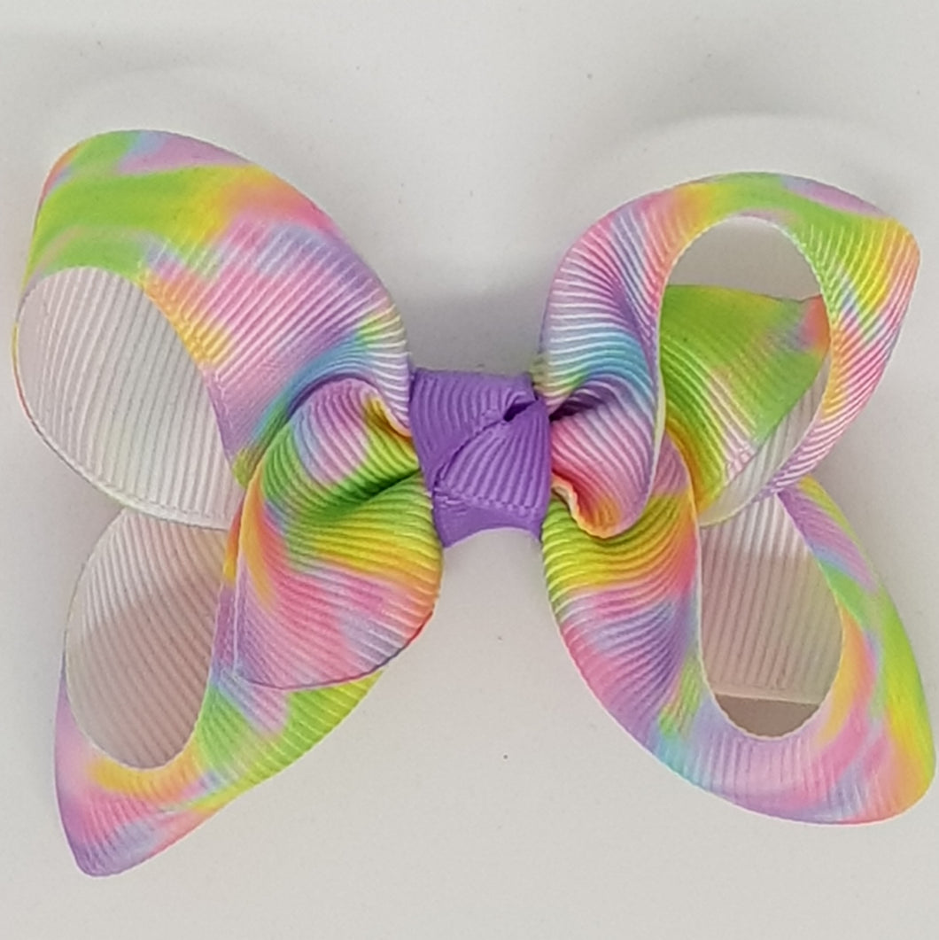 2.5 Inch Boutique Bow - Tie Dye