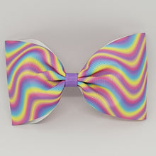 6 Inch Tailless Cheer Bow - Waves