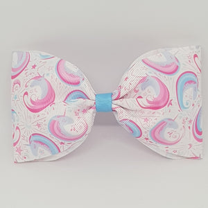 6 Inch Tailless Cheer Bow - Unicorn Swirls