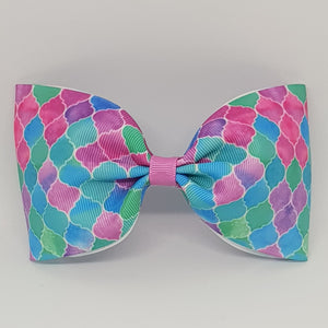 6 Inch Tailless Cheer Bow - Wavy Mesh