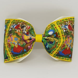 6 Inch Tailless Cheer Bow - Alice in Wonderland