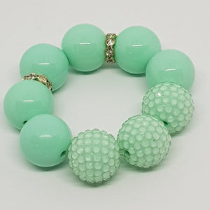 Bubblegum Bling Bracelet - Monochrome Jelly & Rhinestone Bling