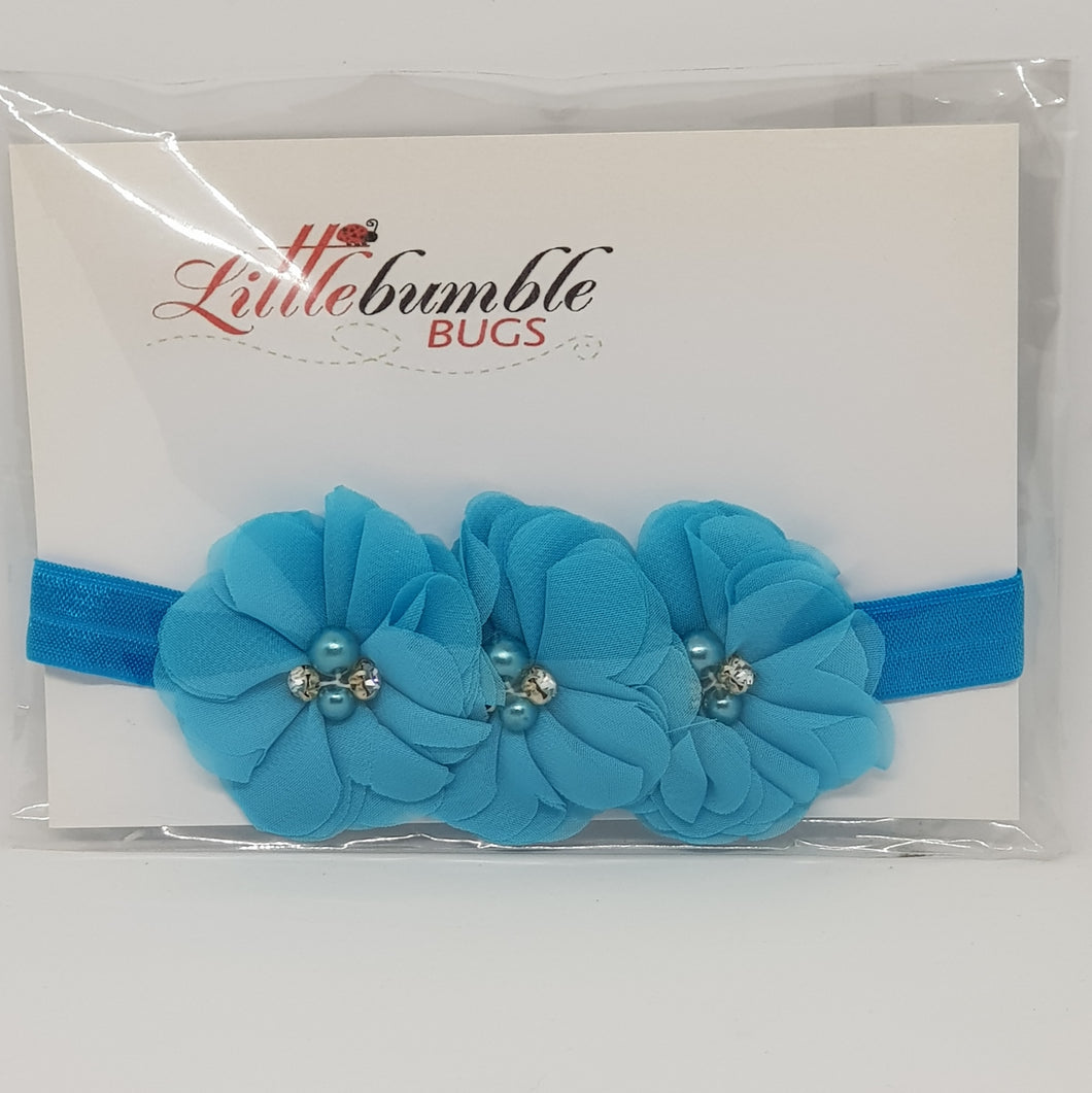 Flower Headband - Triple Chiffon