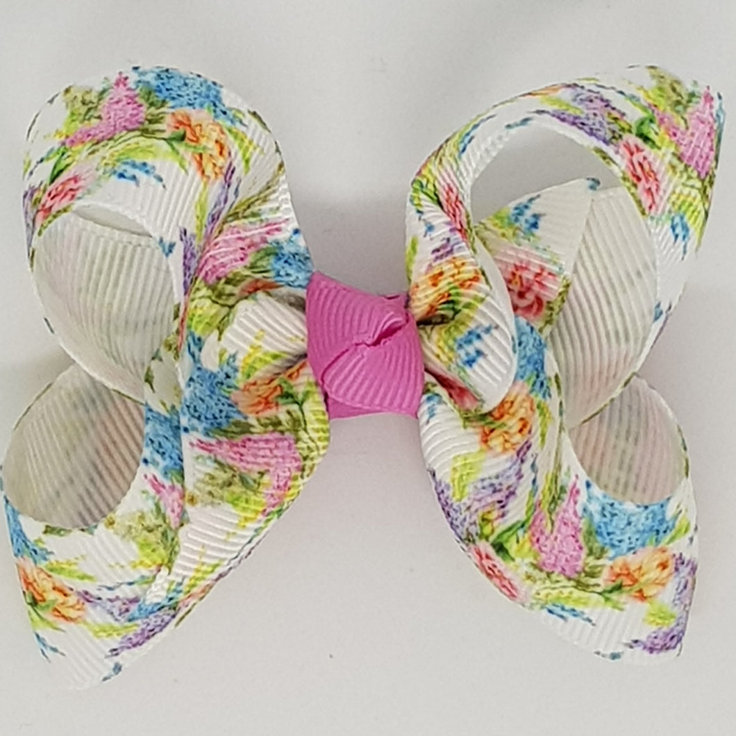 2.5 Inch Boutique Bow - Butterflies & Flowers