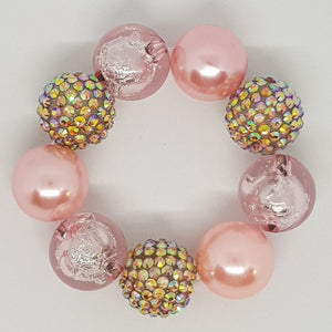 Bubblegum Bling Bracelet - A Touch of Glass