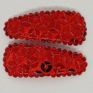 3 cm Baby Snap Clip Sets of 2 - Large Sequins