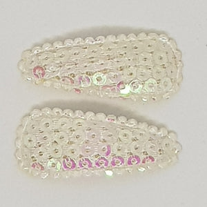 3 cm Baby Snap Clip Sets of 2 - Small Sequins