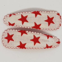 5 cm Snap Clip Sets of 2 - Stars