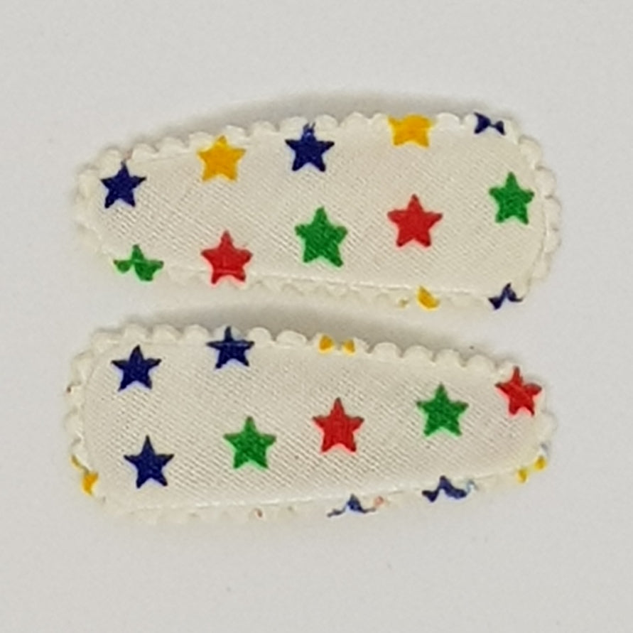 3 cm Baby Snap Clip Sets of 2 - Stars