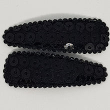 5 cm Snap Clip Sets of 2 - Large Sequin