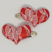 3 cm Snap Clips - Lace Hearts