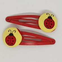 5 cm Button Snap Clips - Ladybugs