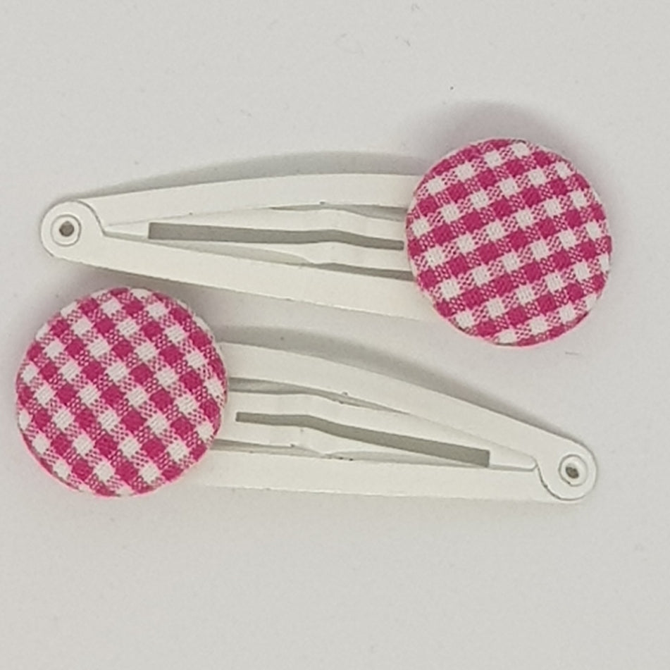 5 cm Button Snap Clips - Gingham