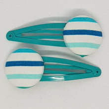 Large Button 5 cm Snap Clips - Stripes
