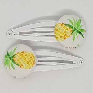 Large Button 5 cm Snap Clips - Pineapples