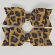 3.25 Inch Sophie Leatherette Bow Set of 2 - Animal Print