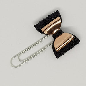1.75 Inch Baby Imogen Bow Planner Clip - Rose Gold