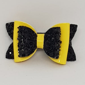 1.75 Inch Baby Imogen Bow - Black & Yellow