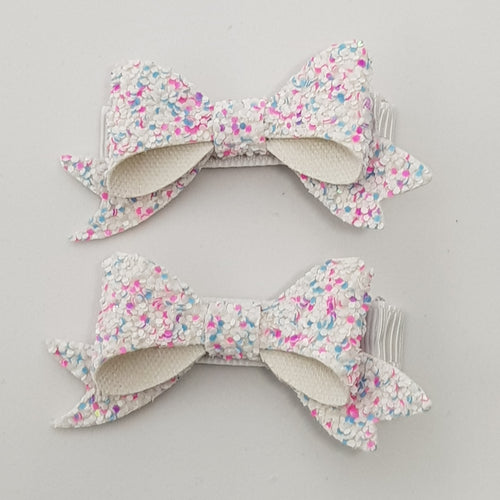2.5 Inch Baby Beau Bow Set of 2 - Bubblegum Bliss
